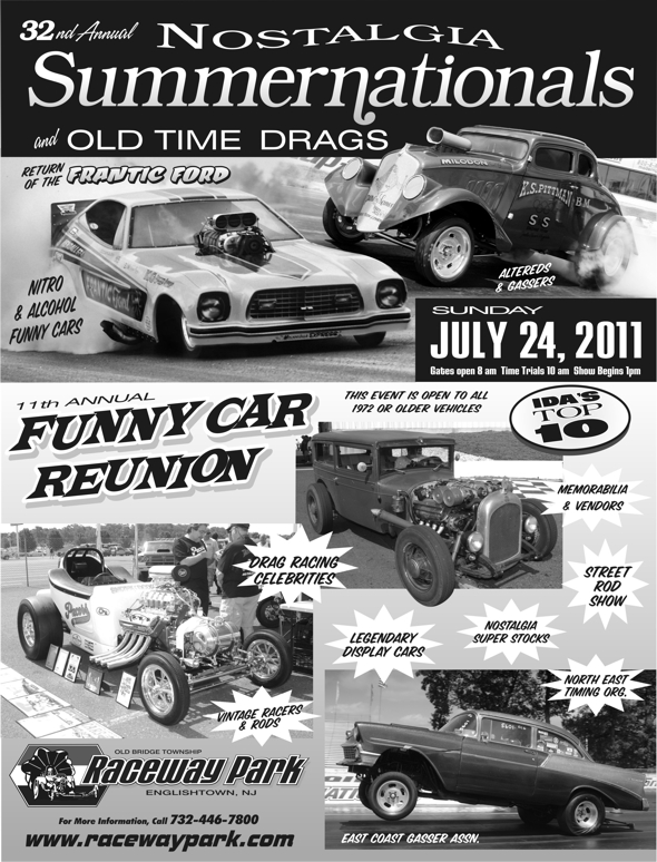 Nostalgia Summernationals & Funny Car Reunion Flyer 2011
